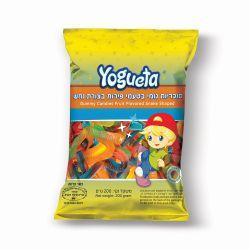 יוגטה סוכריות גומי נחשים מבריק 200 גרם